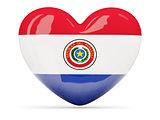 Heart shaped icon with flag of paraguay