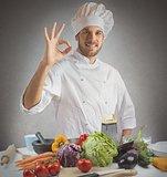 Cuisine of expert chef