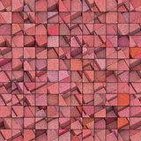 3d abstract mosaic with pink cube pattern