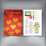 Abstract  Brochure Flyer design vector template.
