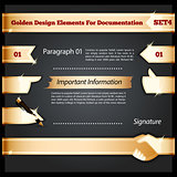 Golden Design Elements For Documentation Set4