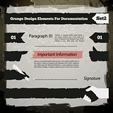 Grunge Design Elements For Documentation Set2