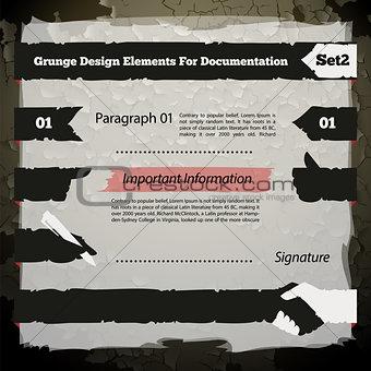 Grunge Design Elements For Documentation Set2