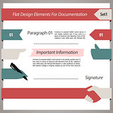 Flat Design Elements For Documentation Set1