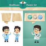Doctors with Speech Bubbles Set