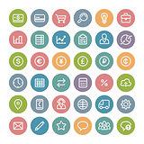 Set of Flat Round Medical Icons