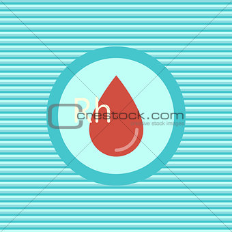 Blood color flat icon