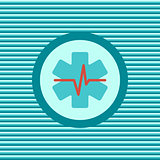 Heart First Aid color flat icon