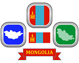 map of map of Mongolia