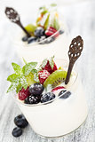 Yogurt with berries