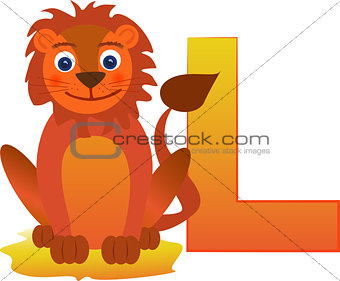 Animal Alphabet - Letter L is for lion