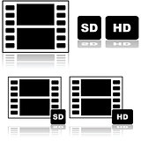 Standard and high definition movies