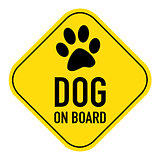 paw on board sign