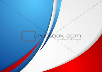 Corporate wavy abstract background. French colors