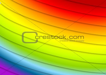 Abstract rainbow stripes vector background