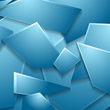 Blue geometric shapes vector background