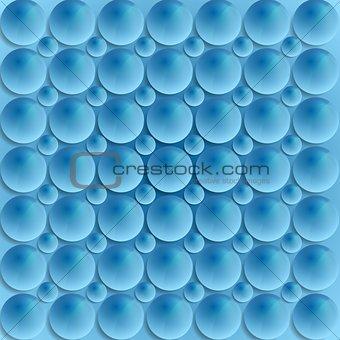Blue circle bubbles vector design