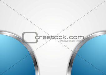 Abstract corporate background with metal design