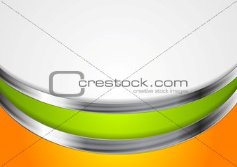 Abstract corporate background with metal waves