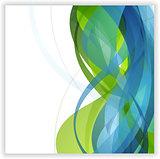 Bright abstract wavy vector design