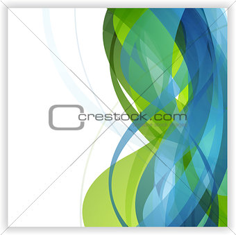 Bright abstract wavy vector design