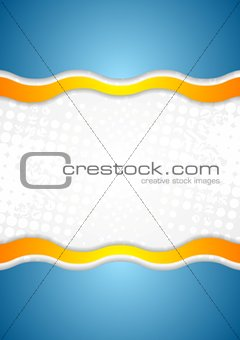 Abstract corporate wavy grunge background