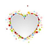Heart shape with shiny lights