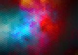 Retro pattern of geometric shapes for web design