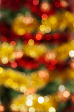 colored Christmas decoration out of focus background