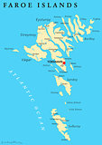 Faroe Islands Political Map