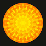 Sun from a Penrose Pattern