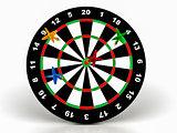 3d darts on target