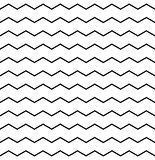Zig zag vector black and white chevron pattern