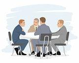 Four businessmen negotiations
