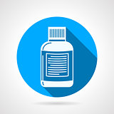 Supplements jar flat round vector icon