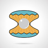 Scallop flat color vector icon