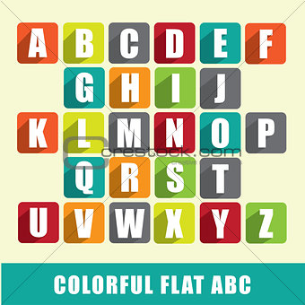 ABC - colorful flat design characters