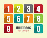 Numbers - colorful modern flat design
