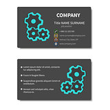 Business card with cogwheels