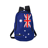 Australian flag backpack isolated on white