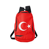 Turkey flag backpack isolated on white