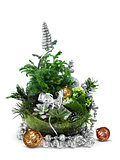 Modern Christmas decoration arrangement