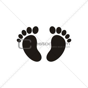 Baby footprint icon Baby footprint icon