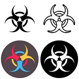 Vector biohazard icons