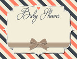 customizable baby shower invitation in retro style