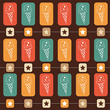 Ice-cream seamless  pattern