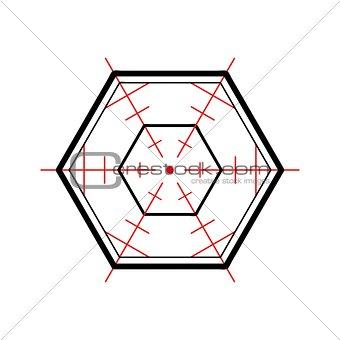 crosshair on white background
