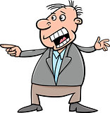 shouting man cartoon illustration