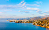 Panoramic view of the town of Agios Nikolaos and the Mirabello B