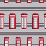 Red telephone box  seamless pattern